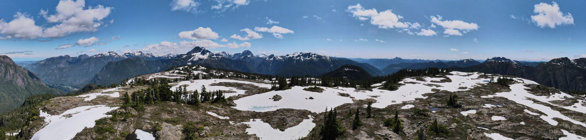 Crest mountain summit pano