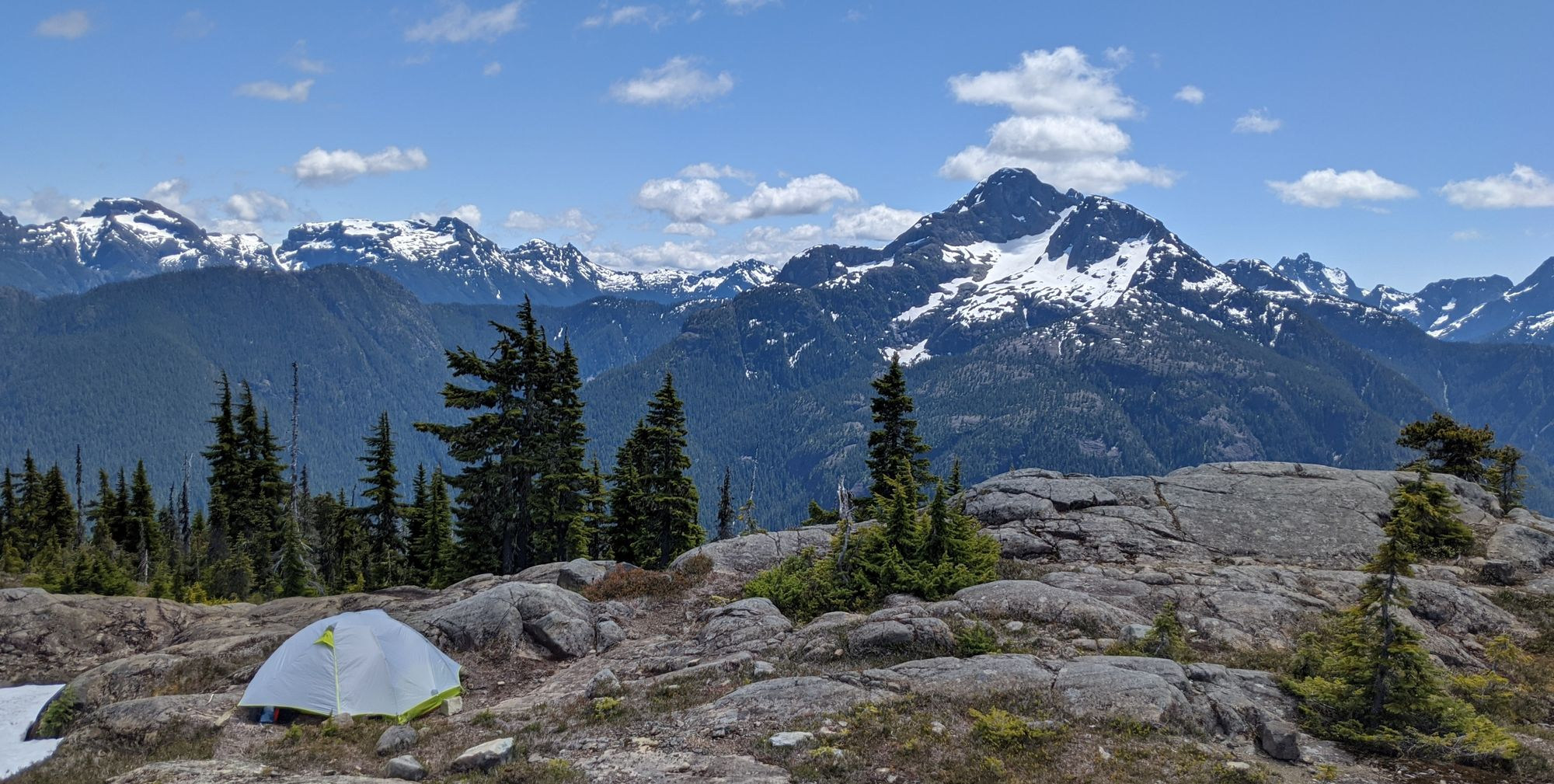 Camp views towards King's Peak