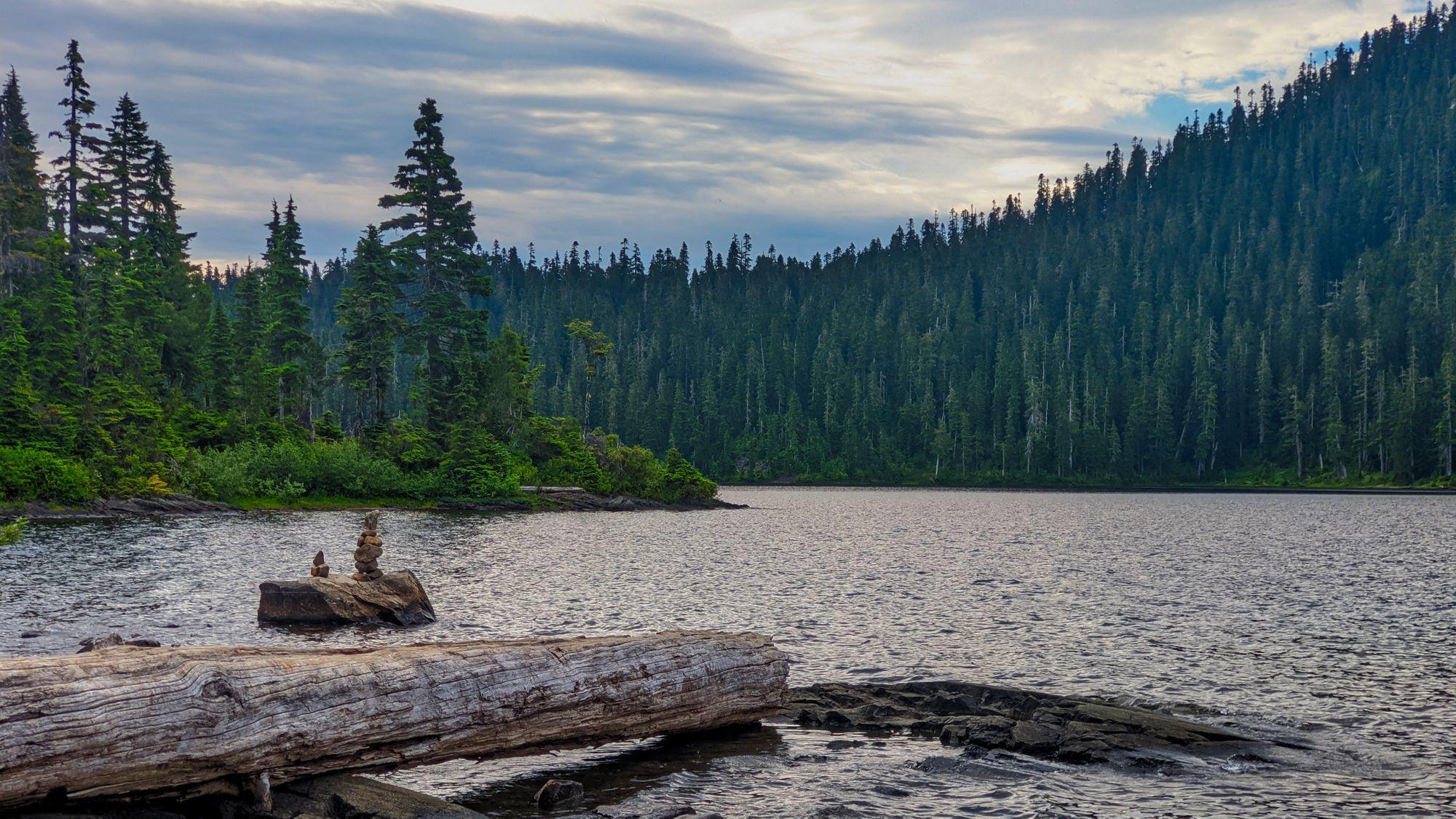 Lake Helen Mackenzie cairns