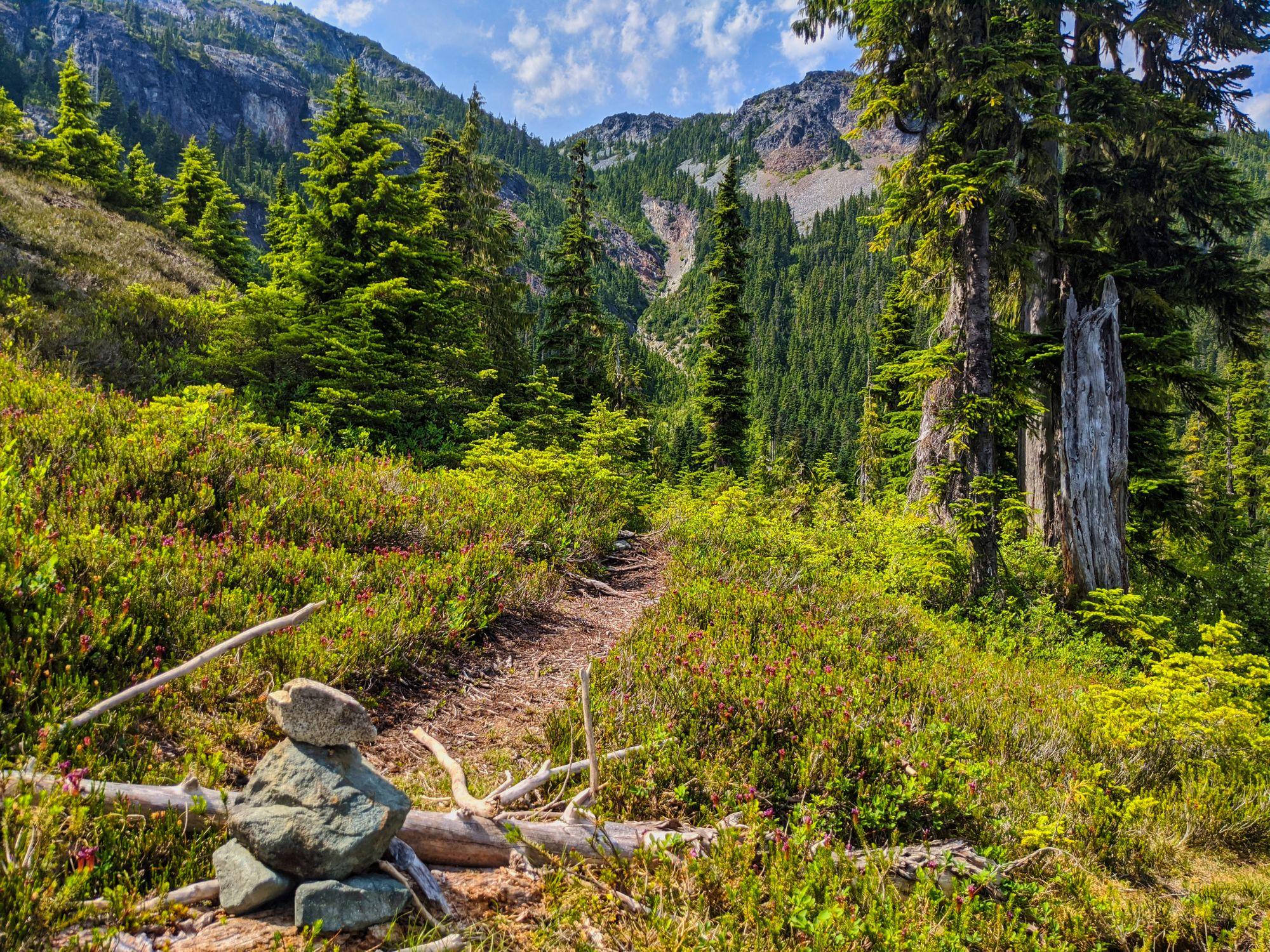 Trail to Amphitheatre Lake